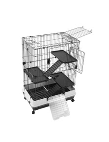 Paws and Claws Pet Cage 2 Tier On Wheels 81X52.5X104Cm