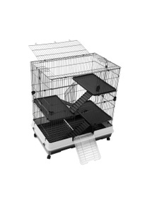 Paws and Claws Pet Cage 2 Tier Lge On Wheels 100X65X104Cm