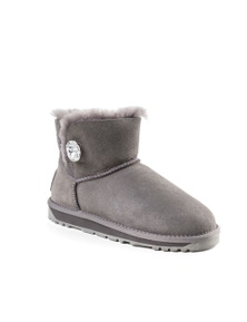 Ozwear UGG Womens Classic Mini Button Whth Swarovski Boots