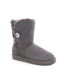 Ozwear UGG Womens Classic Iii Short Button Whth Swarovski Boots