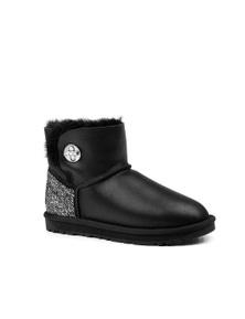 Ozwear UGG Womens Della Mini Turnlock Bling Nappa Boots