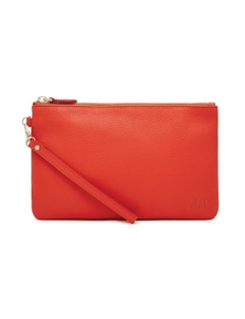 Mighty Purse Leather Wristlet - Coral