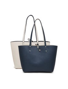 Spark Reversible Tote - Navy And Cream