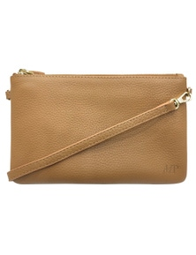 Mighty Purse Cross Body Leather Classic - Tan