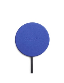 Moon Wireless Pad Wireless Mobile Phone Charger - Blue Leather