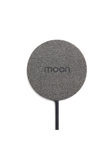 Moon Wireless Pad Wireless Mobile Phone Charger - Black Fabric