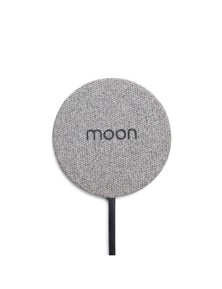Moon Wireless Pad Wireless Mobile Phone Charger - Grey Fabric