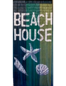 Deluxe Bamboo Door Curtain BEACH HOUSE Room Divider or Wall Art 90x200cm