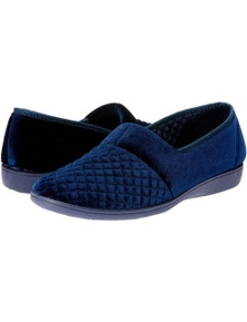Grosby Marcy 2 Women's Slippers Slip On Indoor Casual - Deep Navy [Size 9]