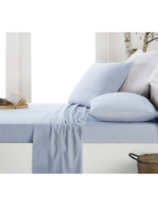 DWELL FLANNELETTE SHEET SET PALE BLUE - KING
