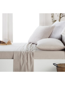DWELL FLANNELETTE SHEET SET LATTE - SINGLE