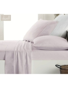 DWELL FLANNELETTE SHEET SET LILAC  - KING SINGLE