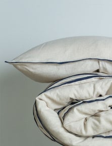 MHome Bed Linen Range Pillowcase with Trim 2PK