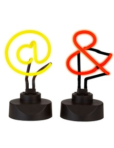 Amalfi 2Pc Signs Neon Lights - Yellow/Red
