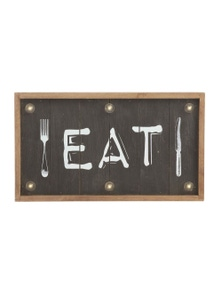 EMPORIUM EAT LED Wall Decor Vintage Hanging Sign Food Shop Art Cafe