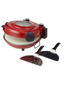 MasterPro MPPIZZAWRD The Ultimate Red Pizza Oven with Window