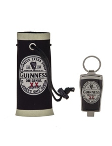Guinness Beer Cooler and Bottle Opener Keyring Gift Set