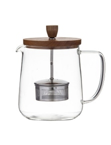 Leaf & Bean DLE0064 Naples Tea Pot with Acacia Lid and Infuser