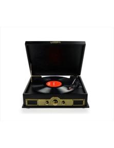 mbeat Vintage wood Turntable w-Bluetooth Speaker-AM-FM