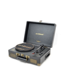 mbeat Uptown Retro Turntable & Cassette Player w-Bluetooth Speaker