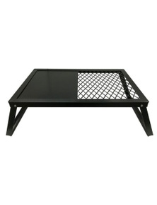 TechBrands Portable Barbecue Plate and Grill with Folding Legs