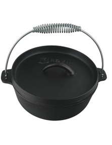 TechBrands Cast Iron Camp Oven 2 Quart 1.9L Dutch Oven (2Qt 230x100mm)