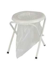 TechBrands Outdoors Folding Portable Toilet with Bags