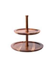 Sherwood Home Acacia 2 Tiers Serving Tray