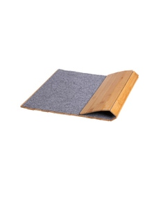 Sherwood Home Bathroom and Kitchen Foldable Bamboo Floor Mat