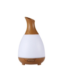 Sherwood Bamboo Ultrasonic Aromatherapy Essential Oil Diffuser with LED Light – Wood Grain