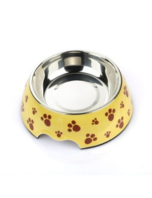 Charlie's Pet Melamine Printed Pet Feeders with Stainless Steel Bowl