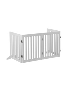 Charlie's Pet Durable Wooden 4 Panel Freestanding Pet Gate