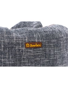 Charlie's Pet Round Bed with Faux Fur Cover