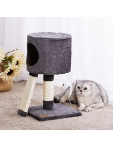 Charlie's Pet Cat Tree Cubby with Scratching Slope