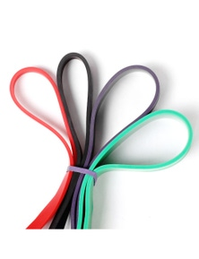 Zen Flex Fitness Rubber Workout Resistance Bands - Set of 4