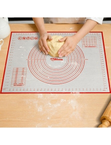 Gourmet Kitchen Non-Stick Oven and Dishwasher Safe Silicone Pastry Baking Mat