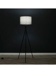 Sherwood Lighting Art Deco Tripod Floor Lamp White