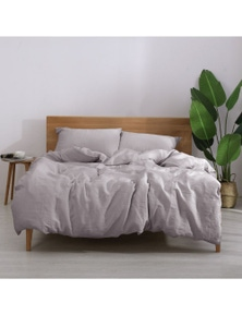 Natural Home Linen Quilt Cover Set