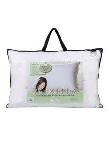 Wooltara Australian Wool Rich Pillow High Profile