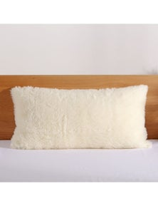Dreamaker Wool Pillow Protector Natural King 50x90cm