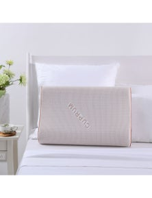 Dreamaker Copper Cooling Gel Top Memory Foam Contour Pillow Rust Red 60 x 40