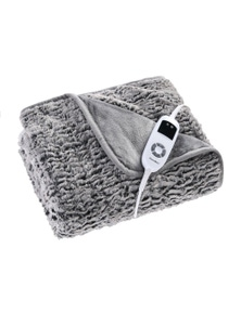 Dreamaker Premium Faux Chinchilla Fur Heated Throw Blanket
