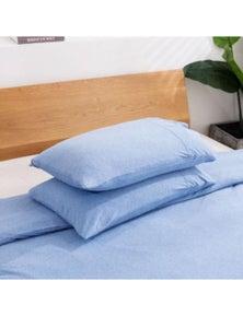 Dreamaker cotton Jersey Standard Finish Pillowcase - Pair Sky Blue