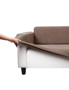 Sherwood Home Polygon Jacquard Easy Stretch 2 Seater Couch Sofa Cover