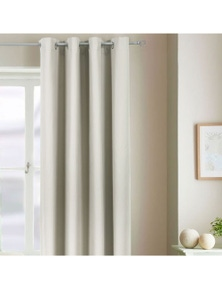 Home Living Natural Blockout Curtains Metal Eyelet Shades Latte Blackout Curtain Madison - 168x228cm