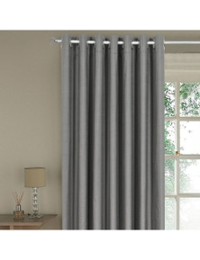 Home Living Rock Natural Blockout Curtains Metal Eyelet Solid Shade Blackout Curtain