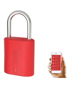 Dog and Bone Locksmart Mini Keyless Bluetooth Padlock Red