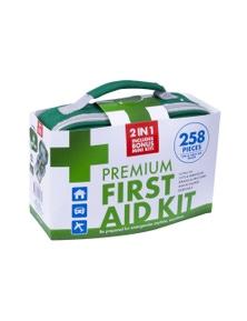Premium First Aid Kit w/ Bonus Mini Kit 258pc
