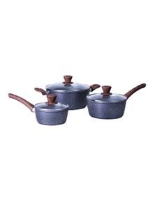 Clevinger 3 Piece Non-Stick Cookware Set