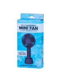 Rechargeable Mini Fan Portable Travel USB w Table Stand Ultra Quiet & Cool